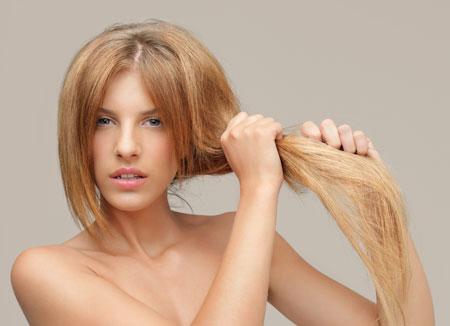 Жирный тип волос