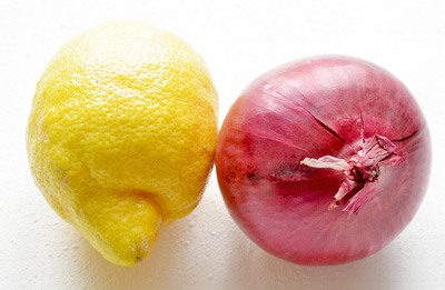 Лук и лимон