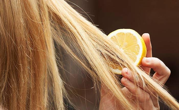 Применение лимона и лука для осветления волос