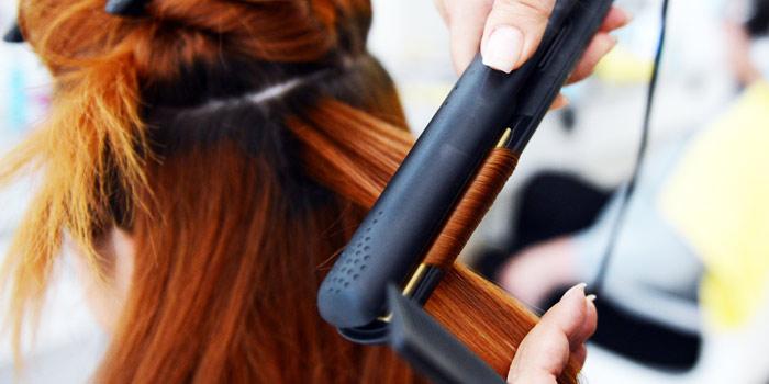 Завивка волос щипцами для выпрямления