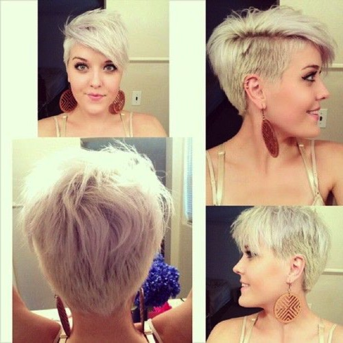Стрижка на одну сторону на короткие волосы