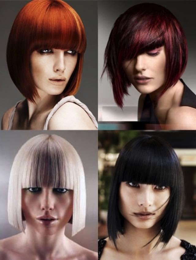 Модные стрижки фото на средние волосы