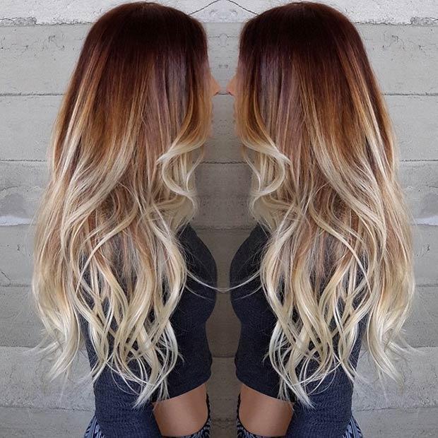 Цвет волос летом фото