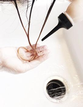 Мелирование руками
