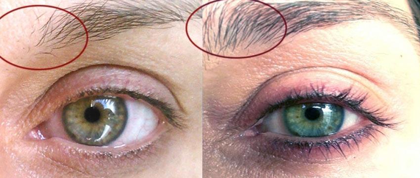 касторовое масло для бровей - фото до и после
