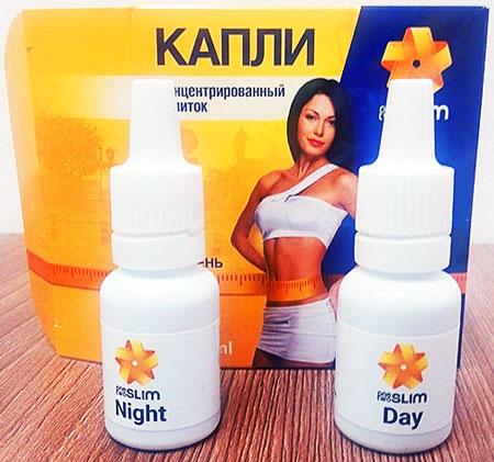 Капли для похудения OneTwoSlim day/night