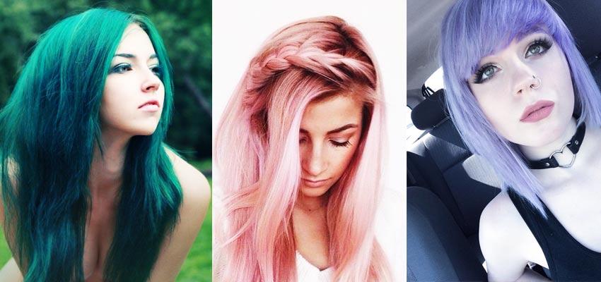 Эпатажная внешность при помощи окрашивания волос
