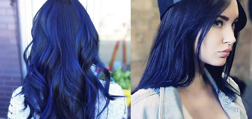 Черный цвет волос с синим отливом
