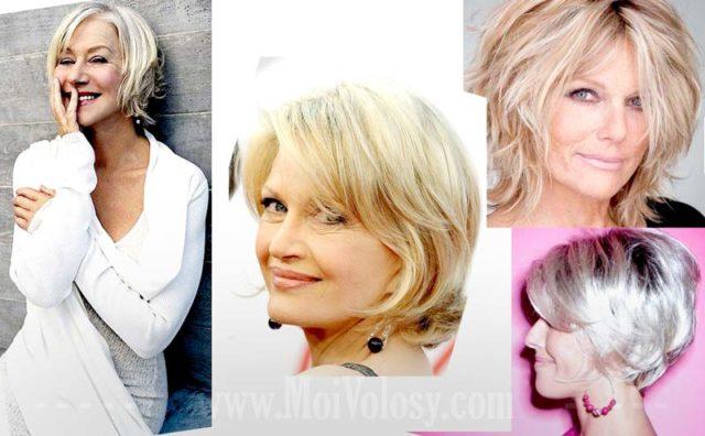 Фото: Cтрижка после 50 лет на средние волосы