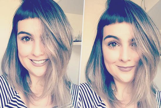 Фото: Стрижки с челкой на средние волосы 2018