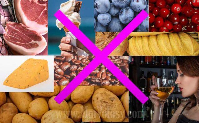 Щелочная диета: Запрещенные продукты