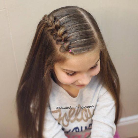 Фото прически девочке в школу на длинные волосы
